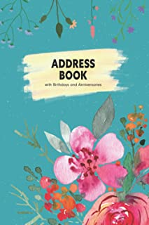 Address Book with Birthdays and Anniversaries: Contact Address Book Organizer and Notes with Alphabetical Tabs and 12 Mont...