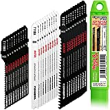 CONBRA® Stichsägeblätter (30-teiliges Set) für Holz und Metall - kompatibel mit Bosch & Makita Stichsägen (Stichsägeblätter Metall, Sägeblätter Stichsäge, Sägeblatt Stichsäge)