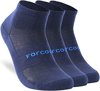 Forcool Women's Men's All Season Athletic Merino Wool Socks, S/M/L, 1/3 Pairs