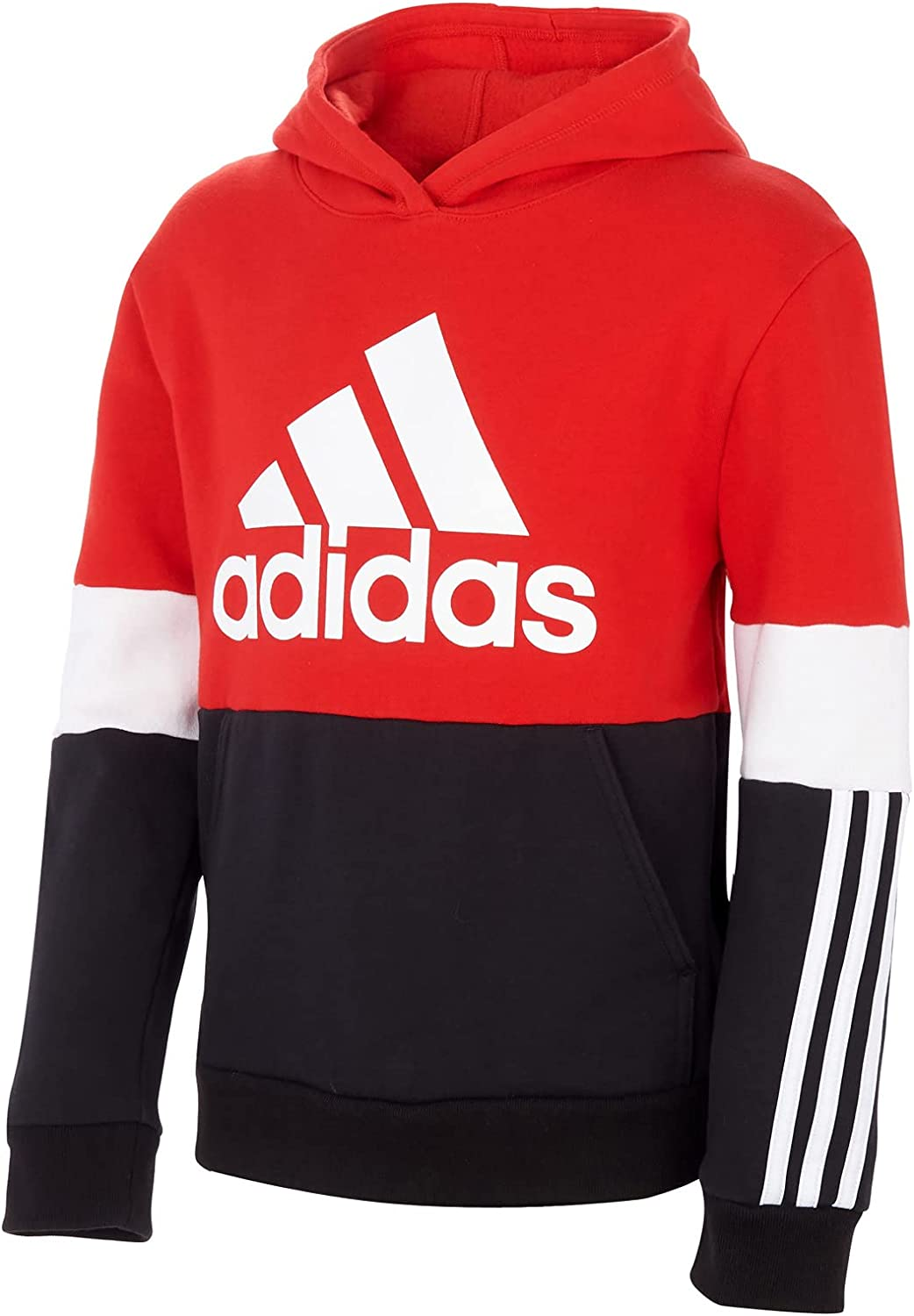 adidas Boy's Color-Block 3-Stripes Hooded Pullover (Toddler/Little Kids)