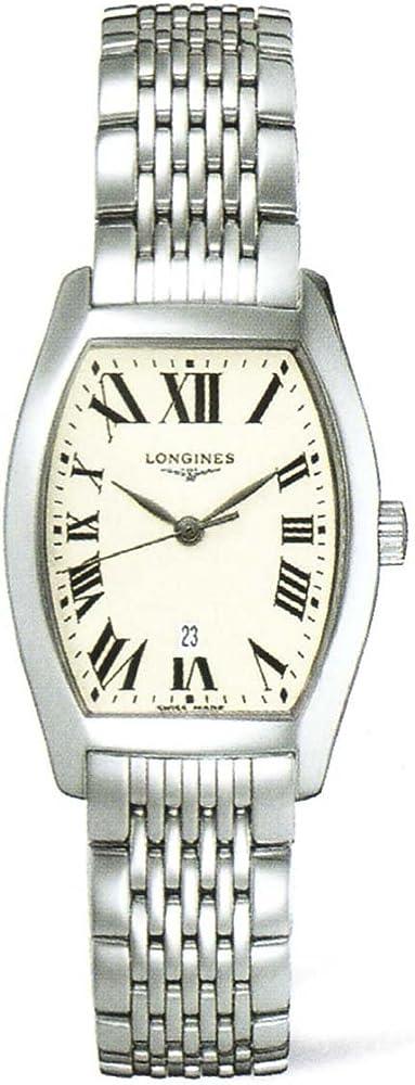 Longines visegrip evidenza, orologio per donna in acciaio inossidabile L2.155.4.71.6