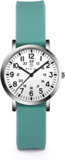 TICCI Women's Petite Watch for Medical Professionals Easy to Read Small Face, Silicone Band, Second Hand, Military Time fo...