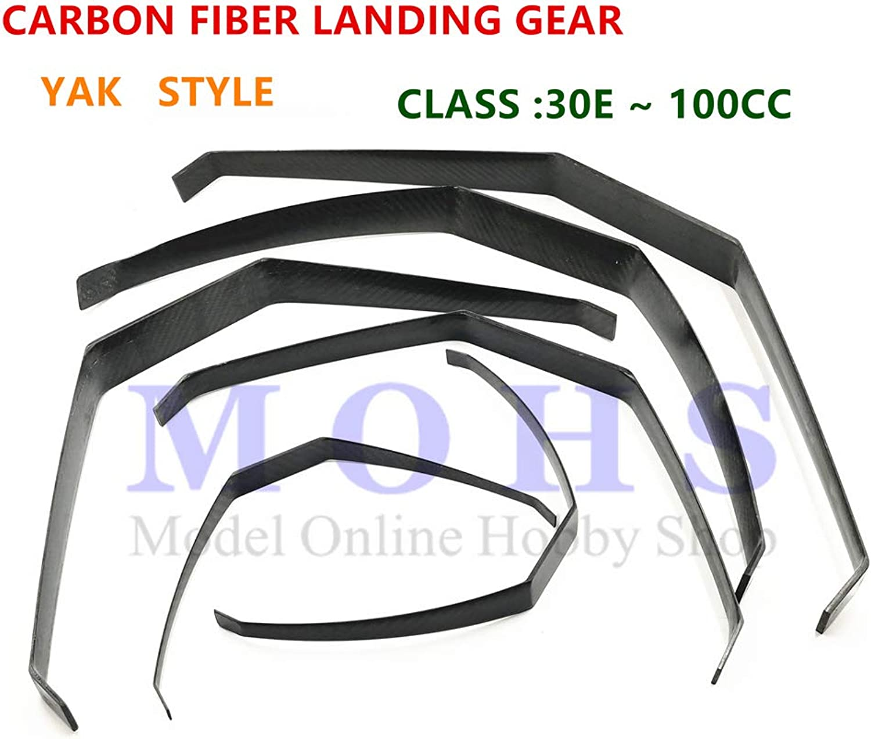 Laliva Carbon Fiber Landing Gear Fixed Wing 20 cc  60 cc Yak Type RC Airplane Aircraft Gasoline Electric Carbon Landing Gear  (color  26cc)