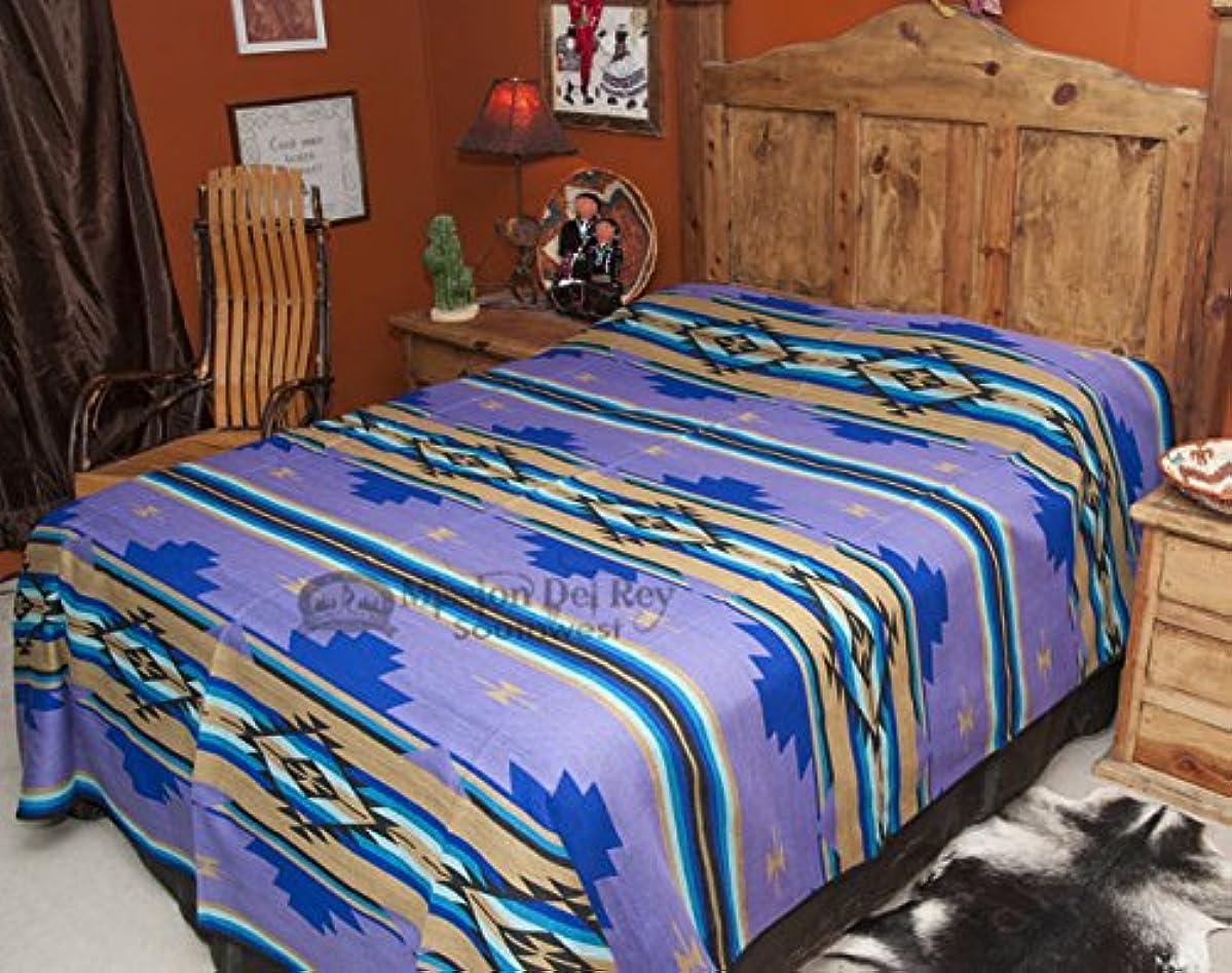 に対応抑圧者証明書ミッションdel Rey 's Western寝具Chevronコレクション Queen 88x96 パープル