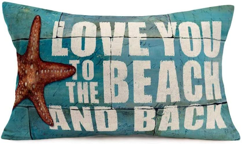 Qinqingo Coastal Beach Jacksonville Mall We OFFer at cheap prices Starfish Throw Pillow Covers Linen Cotton