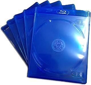 (KGシリーズ) ブルーレイケース 4枚収納 5PACK / クリアブルー / 【15mmサイズ】 【ロゴ:Blu-rayDisc】 【4枚収納】