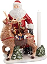 Villeroy & Boch Christmas Toys Memory Santa with Deer, Hard Porcelain, White, 23,5 cm / 0,33 l