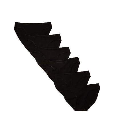 PACT Organic Cotton Classic Fit Bikini 6-Pack (Black) Women