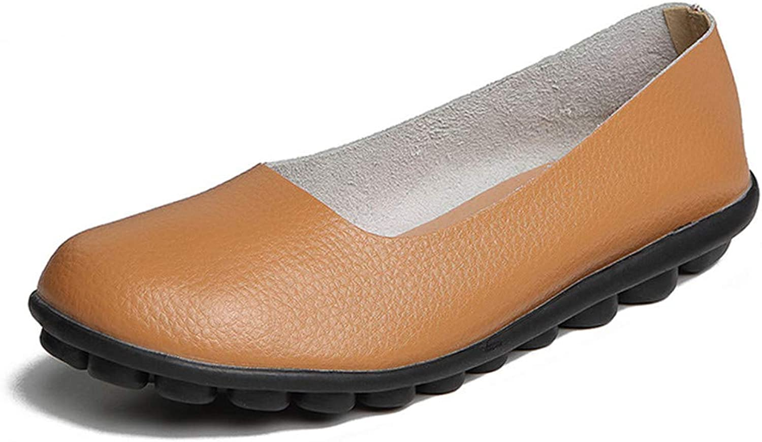 NingYu Women Flats shoes Casual Women Loafers Genuine Leather Ballet Flat shoes