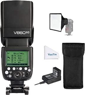 GODOX V860II-C 2.4G 1/8000s高速同期 TTL Li-ionバッテリーカメラのフラッシュスピードライトCanon EOSカメラ用