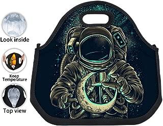 ENPENGOOD Moon Keeper Astronaut Tin Foil Lunch Bag Waterproof Bento Tote Boxes Leakproof Snack Handbags