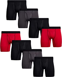 Men's Performance Boxer Briefs with Functional Fly (8 Pack)