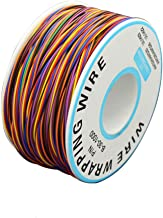 BlueXP 280M 8-Wire Colored Insulation Test Wrapping Cable 30AWG 0.25mm2 Tinned Copper Solid Cable with Soldering Iron Spon...