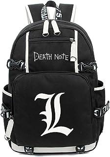 Siawasey Death Note Anime Cosplay Luminous Bookbag Daypack Mochila para computadora portátil Bolsa de hombro Escuela