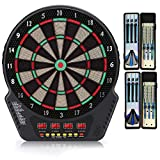 "Biange Electronic Dart Board, Digital Soft Tip Dart Boards, Dartboard Set 13.5"" Target Area, 27 Games and 243 Variants with 6 18g Darts, 4 LED Displays, 100 Tips, Flights, Support 16 Players"
