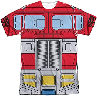 Transformers Optimus Prime Costume Unisex Adult Front Only Sublimated T Shirt for Men and Women