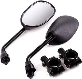 Oalas Black Retro Style Side Rearview Mirror w/ 7/8