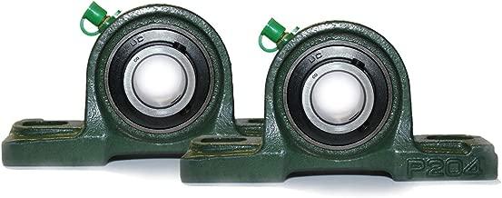 Stehlager 20 mm Welle Geh/äuselager 2 Loch Stehlager UCP 204 NIRO//INOX UCP204 Lagerbock mit Einsatz aus Edelstahl rostfrei 2 ST/ÜCK