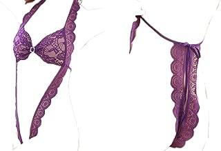 Lingerie For Women Halter Lingerie Lace Teddy Bodysuit Nightwear Deep V Lace Babydoll Underwear Free Size
