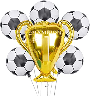 Soccer Party Balloons Set, Championship Trophy Balloon and Soccer Foil Balloons for Birthday Baby Shower Wedding Anniversa...