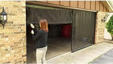 18 ft. x 7 ft. 3-Zipper Garage Door Screen With Rope/Pull