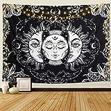 Dremisland Mandala Wandteppich Indien böhmischen Hippie Polyester Wandbehang Ocean Tapisserien für Schlafzimmer Wohnzimmer Dorm Dekorationen (Ozean, M / 148x130cm)