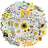 Inspirational Stickers for Laptop, 50PCS Positive Reward Motivational Stickers for Teens Students Teachers Employees, Sunflower Daisy Water Bottles Stickers for Skateboard Computer Phone