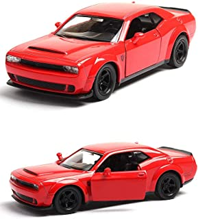 Modelcars 1/36 Scale No Sound Light Toy Collection Dodge Challenger SRT Demon Alloy Diecast Red