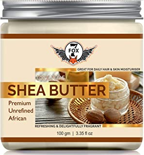 7 Fox Shea Butter | Raw | Unrefined | African | Great For Face, Skin, Body & Lips-(100 gm)
