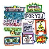 FSVGC Cute Homemade English Alphabet Cartoon Stickers Holiday Wishes/Daily Words/Emotion Stickers 55Pcs/Set