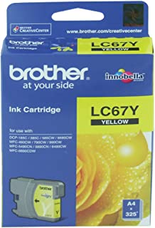 Brother Ink Cartridge, Yellow [LC67Y]