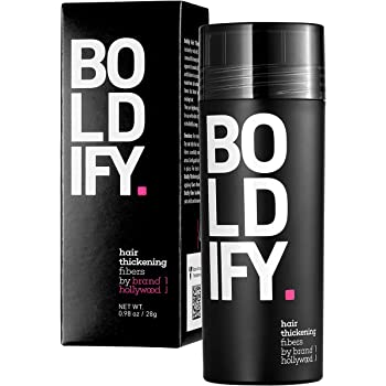 BOLDIFY Hair Fibers for Thinning Hair (DARK BROWN) 100% Undetectable & Natural - Giant 28g Bottle - Completely Conceals Hair Loss in 15 Seconds - Hair Thickener & Topper for Fine Hair for Women & Men