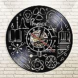 WERWN Física de Vinilo Reloj de Pared decoración Reloj Aprendizaje de física Experimento decoración Regalo