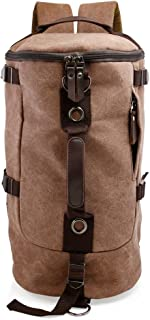 Oct17 Men's Canvas Hiking Backpack Sports Daypack Outdoor Bag Rucksack Satchel