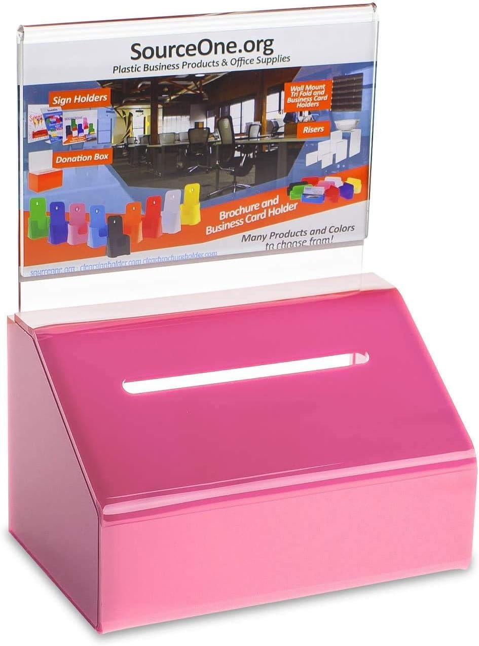 SOURCEONE.ORG 直営ストア Acrylic Heavy Duty Donation a Ballot with ショッピング Lock Box