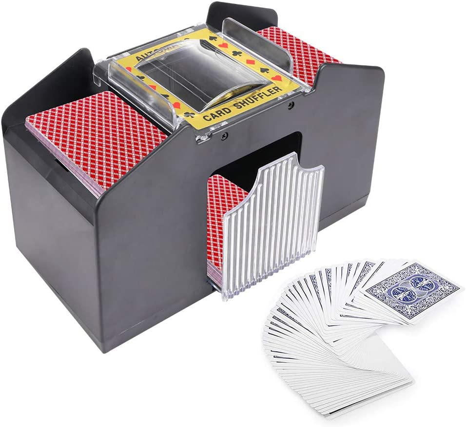S SUNSBELL Automatic Card Shuffler Batte Max 49% OFF Five Fashion Game Crowns