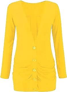 Momo&Ayat Fashions Ladies Viscose Button Up Ruched Pocket Boyfriend Cardigan AUS Size 8-26