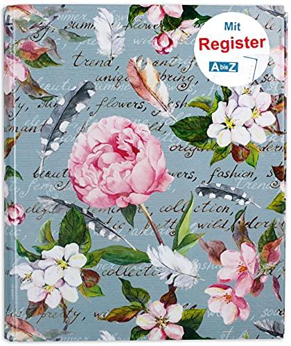 RNK 46701 - Ringbuch, für DIN A5, mit Register A-Z, Blütenzauber