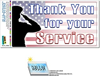 Graphics and More Thank You for Your Service - USA Military Troops United States Marine Corps Navy Air Force Army Slap-STICKZ(TM) Automotive Car Window Locker Bumper Sticker