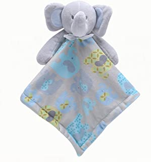 FULLANT Security Blanket Soothing Toy Soft Plush Teething Cloths Towel Toys for 0 to 36 Months Baby & Toddler - Kids Boys Girls Gift (Blue)