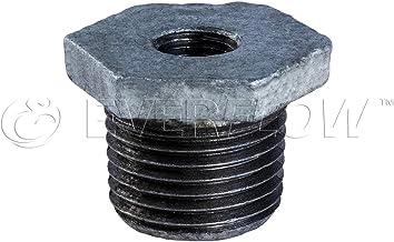 Everflow Supplies GMBU3121 8,5 cm x 7,6 cm czarna złączka tulejowa z żeliwa ciągliwego z sześciokątną głowicą