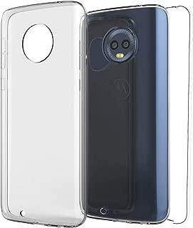 TBOC Funda para Motorola Moto G6 Plus - Moto G6+ - Carcasa [Transparente] Completa [Silicona TPU] Doble Cara [360 Grados] Protección Integral Total Delantera Trasera Lateral Móvil Resistente Golpes