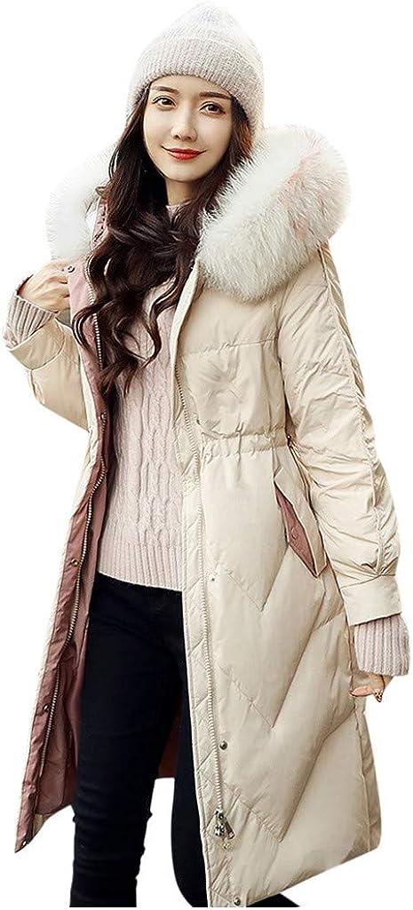 Womens Winter Jackets Fashion Warm Cotton Hooded Winter Long-Sleeved Overcoat