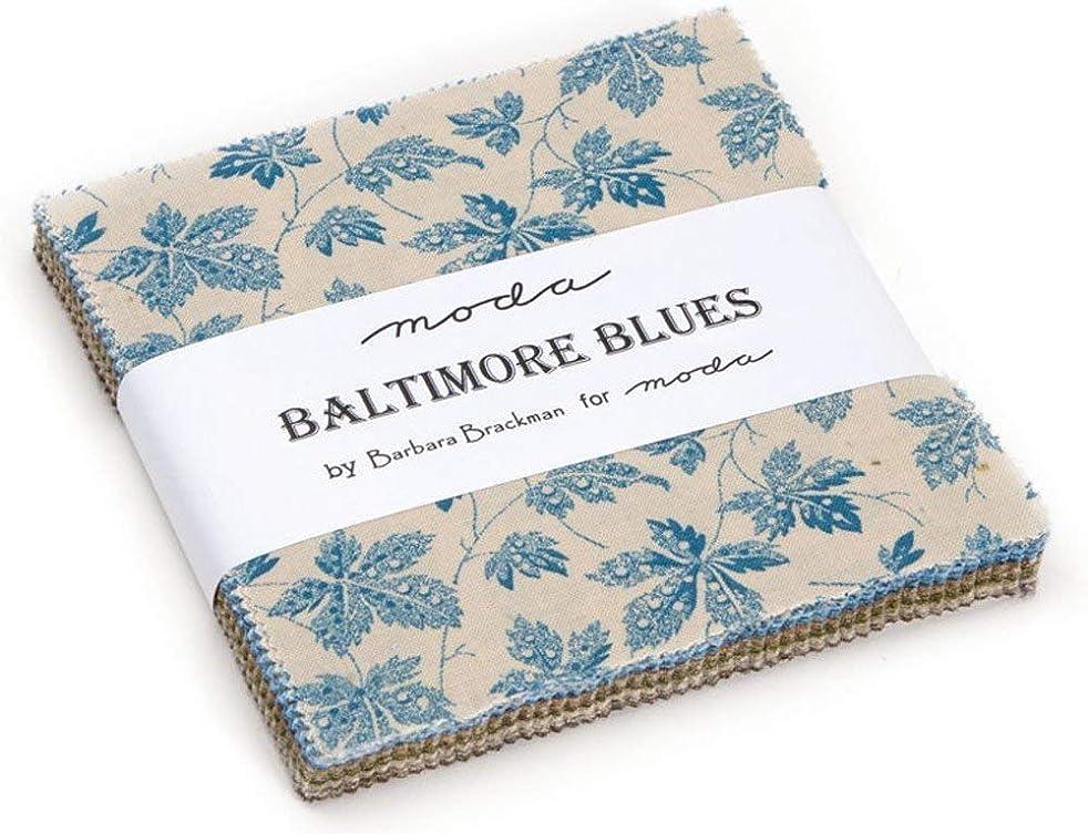 Baltimore Blues Charm Pack By Barbara Brackman; 42-5