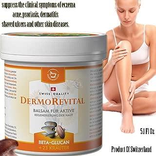 DERMOREVITAL REGENERATIVE BALM for acne, psoriasis, sunburn or injured skin with beta-glucan + 23 Herbs (150ml)