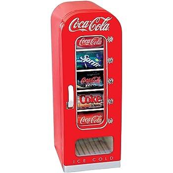 Koolatron CVF18 Coca-Cola Official Design Push Button Vending Machine Mini Fridge Holds 10 Cans