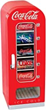 Koolatron CVF18 Coca-Cola Official Design Push Button Vending Machine Mini Fridge Holds 10 Cans