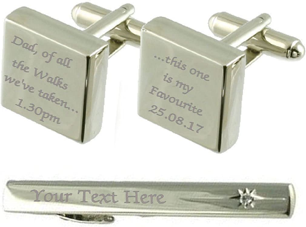 Select Gifts Dad Favourite Walks Cufflinks Engraved Detroit Mall Clip Box Price reduction Tie