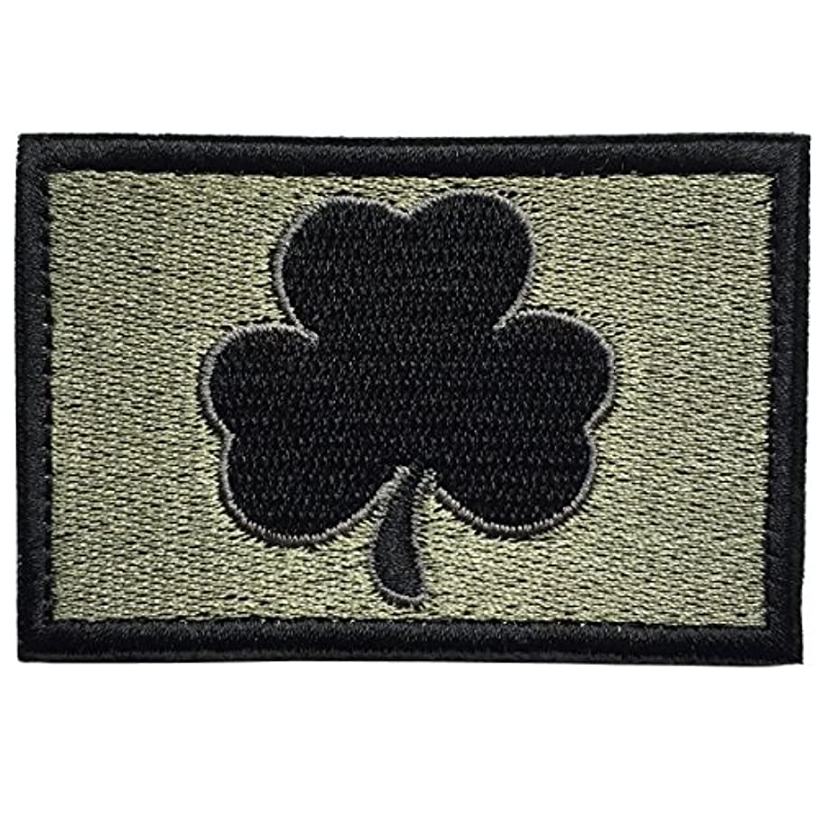 SpaceCar Saint Patrick's Day Shamrock Clover Tactical Morale Embroidery Hook & Loop Patch 3