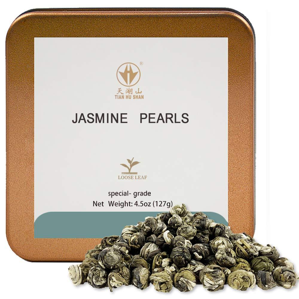 Challenge the lowest price TIAN HU SHAN Special Grade Jasmine Loose Tea Pearls Green Ranking TOP19 Dragon